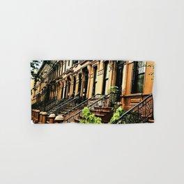 Harlem Brownstones on a summer's day Hand & Bath Towel