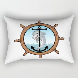 Dolphin, anchor, helm Rectangular Pillow
