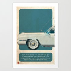 Ecto-1 from Ghostbusters part I of III Art Print