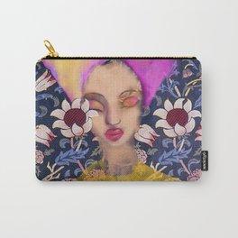 Enchanted Garden Romantic Floral Art Nouveau Watercolor Portrait Carry-All Pouch