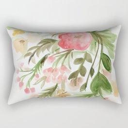 Watercolor Arrangement Rectangular Pillow