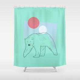 At The Pole - Pastel Mint Shower Curtain