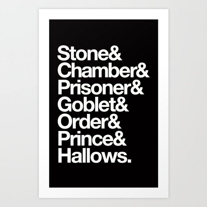 Helvetica Art Print Stone Chamber Prisoner Goblet Order Prince Hallows