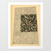 - the immature square - Art Print