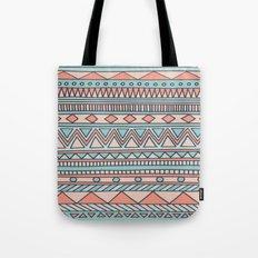Tribal #4 (Coral/Aqua) Tote Bag