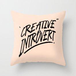 The Creative Introvert Throw Pillow