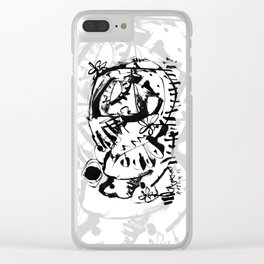 One With Nature - b&w Clear iPhone Case