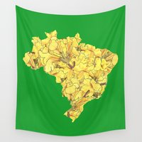 brazil Wall Tapestries featuring Brazil by Ursula Rodgers