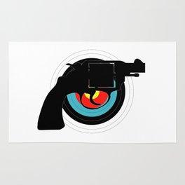 Hand Gun Target Rug
