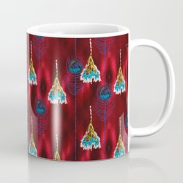 Red Peacock Feather Coffee Mug