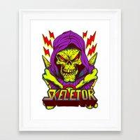 skeletor Framed Art Prints featuring skeletor by Vincent Trinidad
