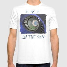 Eye to the Sky White Mens Fitted Tee MEDIUM