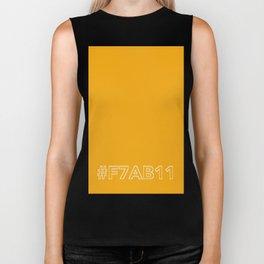 #F7AB11 [hashtag color] Biker Tank