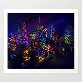 Midnight City Art Print
