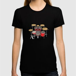 Red Drum Kit T-shirt