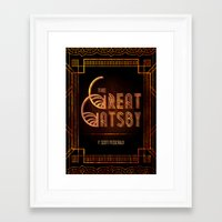 the great gatsby Framed Art Prints featuring Gatsby by grrrenadine
