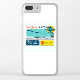 Caribbean Nation Clear iPhone Case