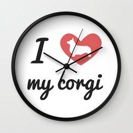 I Love My Corgi Wall Clock