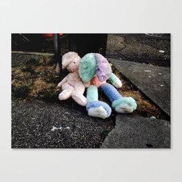 Abandoned Stuffed Animals in Seattle Canvas Print