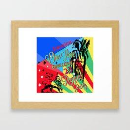 Rasta Reggae One Love Party Framed Art Print