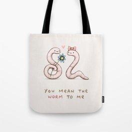 Worm Love Tote Bag