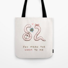 Worm Love Tote Bag