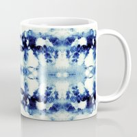 tie dye Mugs featuring Tie Dye Blues by Nina May Designs