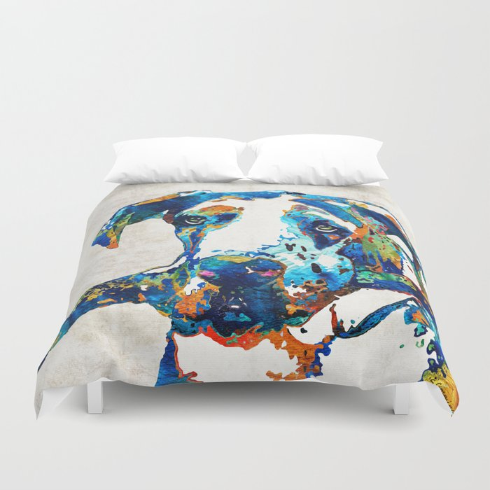 Great Dane Art - Stick With Me - By Sharon Cummings Duvet Cover