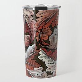 Art Nouveau William Morris Autumn Acanthus Leaves Travel Mug