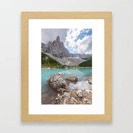 Sorapis lake - Italy Framed Art Print