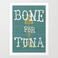 boardwalk empire Art Prints featuring bone for tune (boardwalk empire) by christopher-james robert warrington