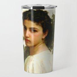 "William-Adolphe Bouguereau ""Laurel Branch"" Travel Mug"