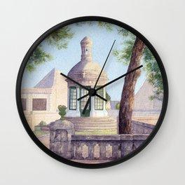 Tiny old mediterranean chapel Wall Clock