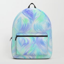 Preppy Blue Watercolor Abstract Ripples Backpack