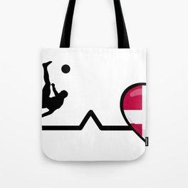 Heartbeat Soccer| Pulse Denmark Love Tote Bag