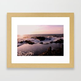 Thor's Well at Sunset Framed Art Print