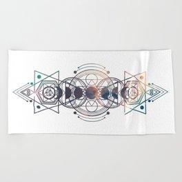 Light Moon Phase Nebula Totem Beach Towel