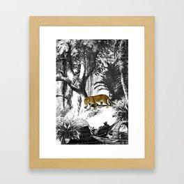 Leopard & Landscape Framed Art Print