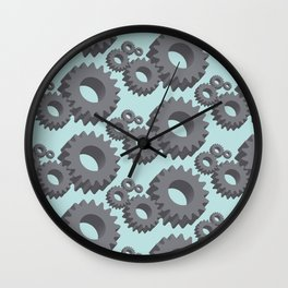 Mechanical cogwheels in 3D Wall Clock
