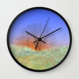 Trees at Sunset Wall Clock