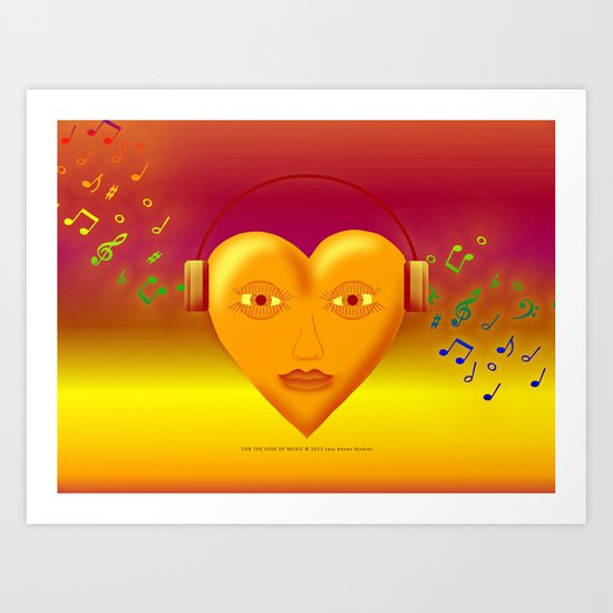 FOR THE LOVE OF MUSIC 038 Art Print