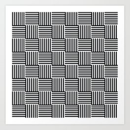 op art - cross hatch Art Print