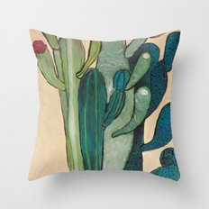 Mexican Cactus Throw Pillow
