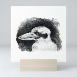 Kookaburra (Australian Bird) #illustration #bird Mini Art Print
