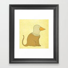 animal fake Framed Art Print