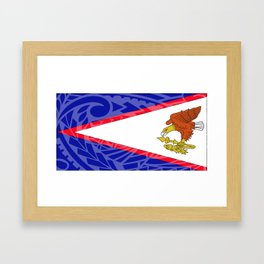American Samoa Flag Framed Art Print