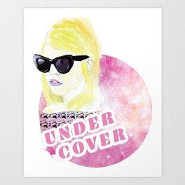 Under cover (detective) Art Print