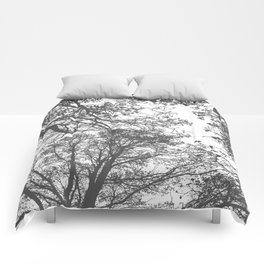 Grey Trees Abstract Comforters