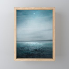 Sea Under Moonlight Framed Mini Art Print