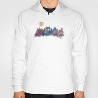 prague Hoodies featuring Prague skyline by jbjart